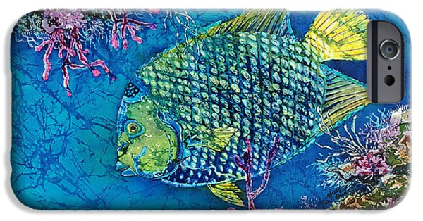 Ocean Tapestries - Textiles iPhone Cases - Queen of the Sea iPhone Case by Sue Duda