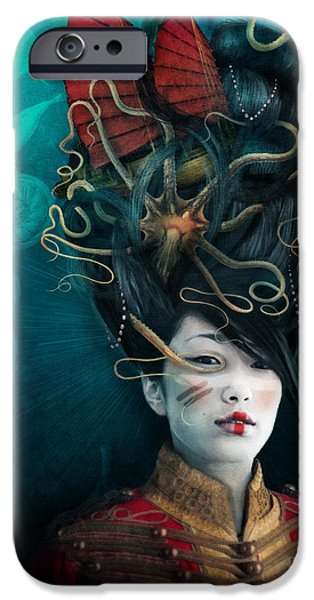 Hat iPhone Cases - Queen of the Wild Frontier iPhone Case by Aimee Stewart