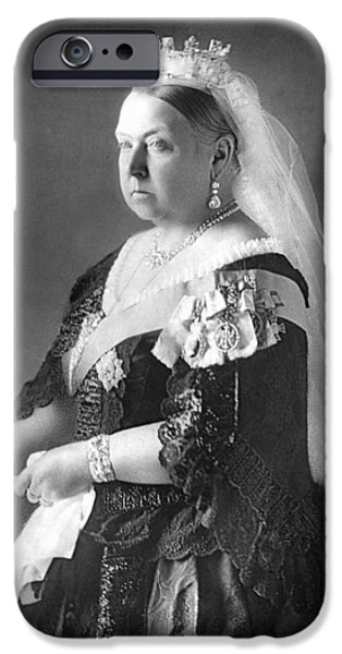 Royalty iPhone Cases - Queen Victoria iPhone Case by Unknown
