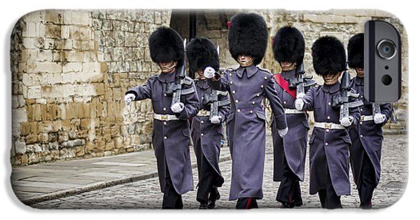 London iPhone Cases - Queens Guard iPhone Case by Heather Applegate