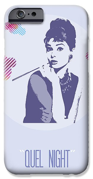 Hairstyle Digital iPhone Cases - Quel Night iPhone Case by Florian Rodarte