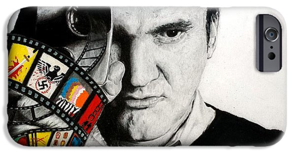 Quentin Tarantino iPhone Cases - Quentin Tarantino iPhone Case by S G Williams