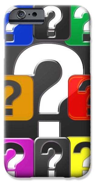 Diy iPhone Cases - QUESTION EVERYTHING Wisdom Graphic Art Decoration iPhone Case by Navin Joshi