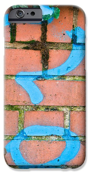 Alley Photographs iPhone Cases - Question mark iPhone Case by Tom Gowanlock