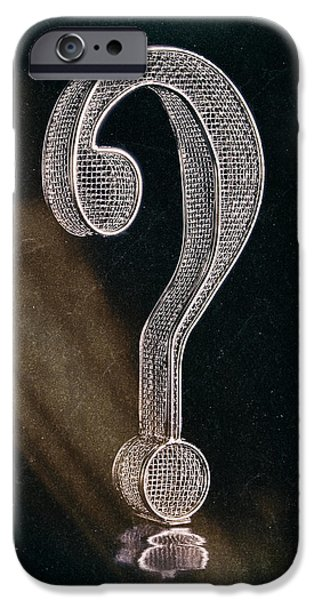 Thinking iPhone Cases - Question Mark iPhone Case by Tom Mc Nemar