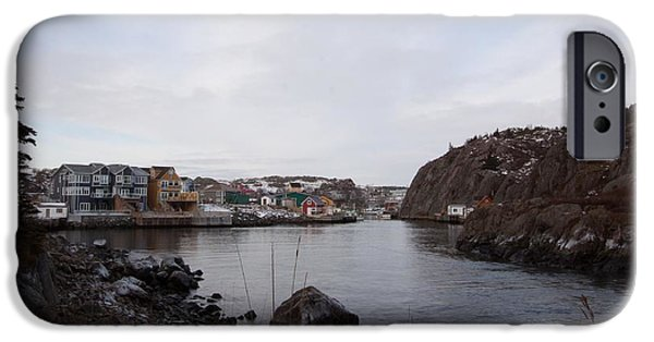 Village iPhone Cases - Quidi Vidi Breakwater iPhone Case by Darrell Young