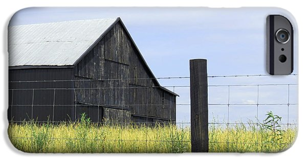 Old Barns iPhone Cases - Quiet iPhone Case by Alan Crabtree