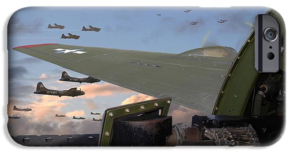 Classic Aircraft iPhone Cases - Quiet before the Storm iPhone Case by Pat Speirs