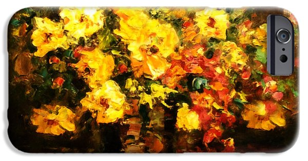 Poetic Mixed Media iPhone Cases - Quiet Desires - Impressionism  iPhone Case by Georgiana Romanovna