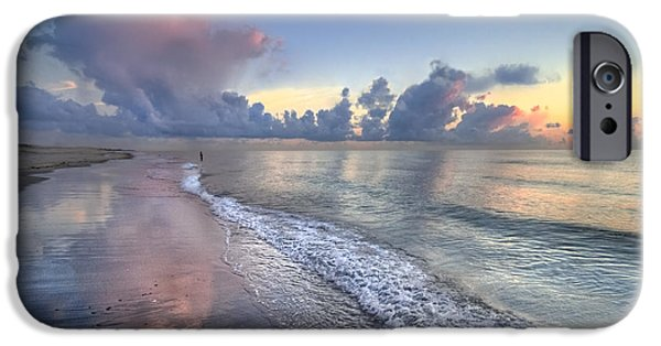 Fl iPhone Cases - Quiet Morning iPhone Case by Debra and Dave Vanderlaan
