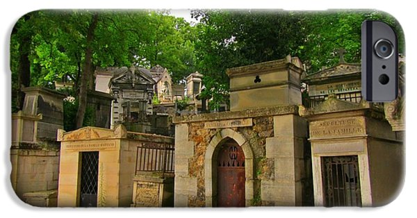 Cemetary iPhone Cases - Quiet Neighborhood in Paris iPhone Case by John Malone