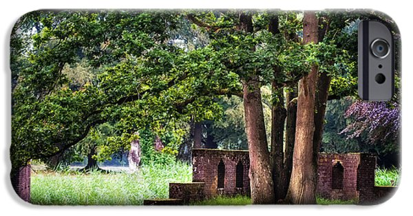 Garden Scene Photographs iPhone Cases - Quiet Park Corner. De Haar Castle iPhone Case by Jenny Rainbow