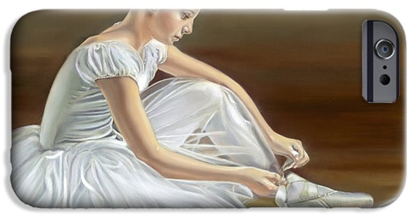 Ballet Dancers iPhone Cases - Quiet Repose iPhone Case by Sharon Lange