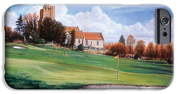 Rural iPhone Cases - Quiet Village iPhone Case by Steve Crisp