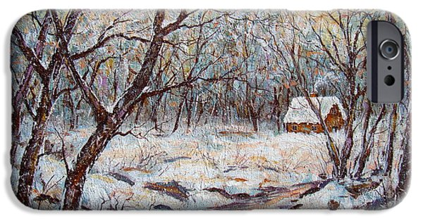 Winter In Maine iPhone Cases - Quiet Winter. iPhone Case by Natalie Holland