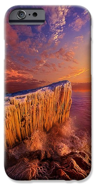 Morning iPhone Cases - Quietly Winter Reigns iPhone Case by Phil Koch
