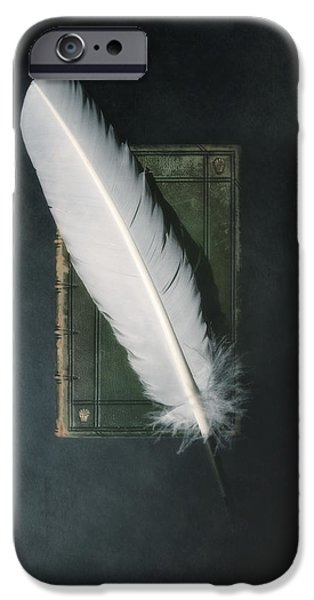 Quill iPhone Cases - Quill And Book iPhone Case by Joana Kruse