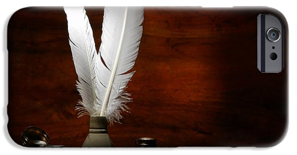 Implement iPhone Cases - Quills and Inkwells iPhone Case by Olivier Le Queinec