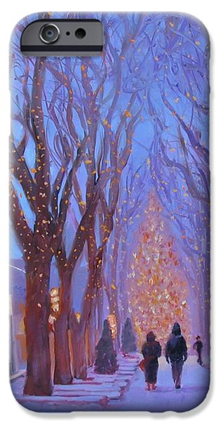 Quincy Market at Twilight iPhone Case by Laura Lee Zanghetti