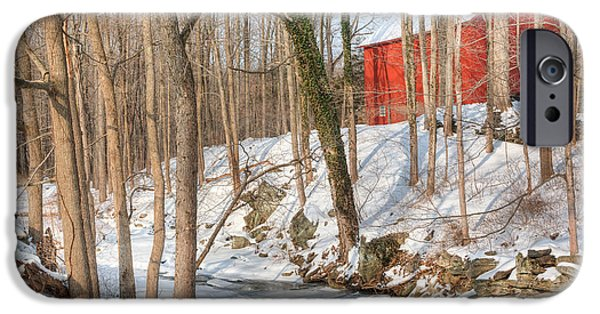 Old Barns iPhone Cases - Quintessential New England iPhone Case by Bill Wakeley
