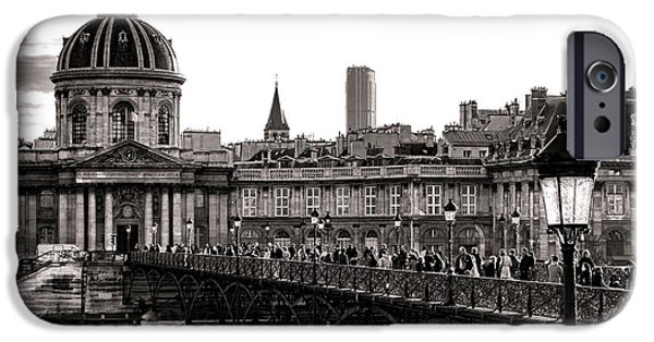 Gathering Photographs iPhone Cases - Quintessential Paris iPhone Case by Olivier Le Queinec