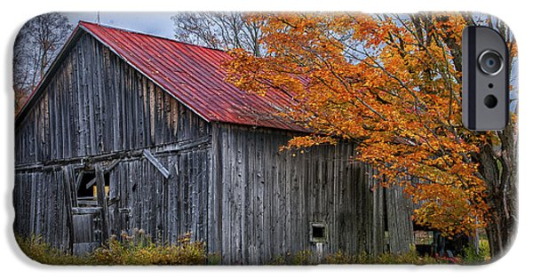 Small iPhone Cases - Quintessential Vermont - Rustic Barn Series  iPhone Case by Thomas Schoeller