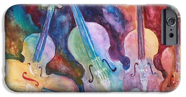 Classical Music iPhone Cases - Quintet in Color iPhone Case by Jenny Armitage