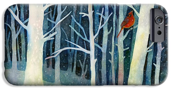 Recently Sold -  - Snowy iPhone Cases - Quiet Moment iPhone Case by Hailey E Herrera