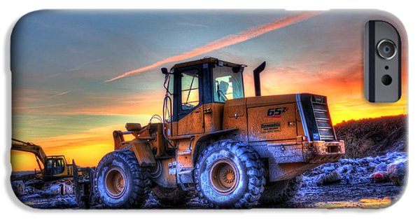 Backhoe iPhone Cases - Quitting Time iPhone Case by Matt  Davis