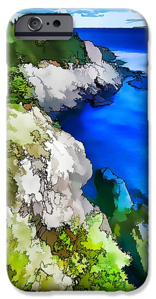 Abstract Seascape iPhone Cases - Quoddy Coast - Abstract Painterly iPhone Case by Bill Caldwell -        ABeautifulSky Photography