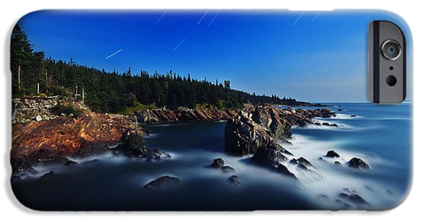 Quoddy iPhone Cases - Quoddy Coast by Moonlight iPhone Case by Bill Caldwell -        ABeautifulSky Photography