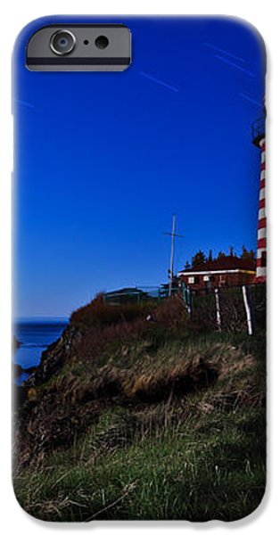 Quoddy Head by Moonlight Panorama iPhone Case by Bill Caldwell -        ABeautifulSky Photography