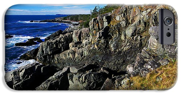 Quoddy iPhone Cases - Quoddy Head Ledge iPhone Case by Bill Caldwell -        ABeautifulSky Photography