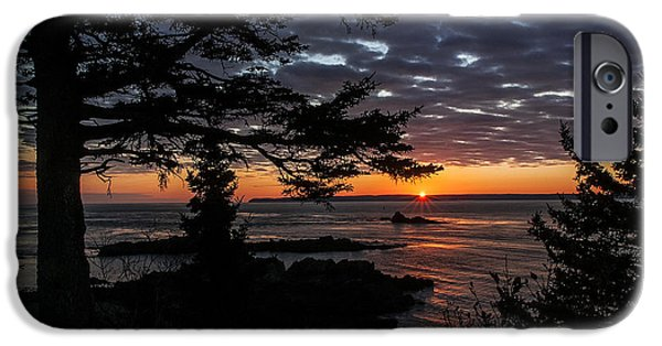 Quoddy iPhone Cases - Quoddy Sunrise iPhone Case by Marty Saccone