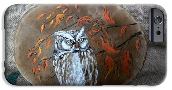Birds Reliefs iPhone Cases - Qwl iPhone Case by Ildiko Decsei