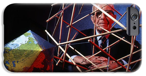 Architect iPhone Cases - R. Buckminster Fuller 1981 iPhone Case by The Phillip Harrington Collection