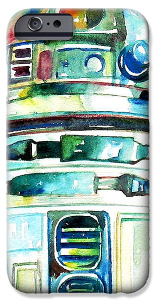 R2-D2 WATERCOLOR PORTRAIT iPhone Case by Fabrizio Cassetta