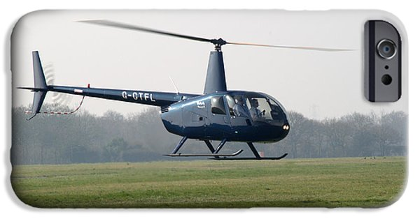 Recently Sold -  - Christmas Greeting iPhone Cases - R44 Raven Helicopter iPhone Case by Chris Day