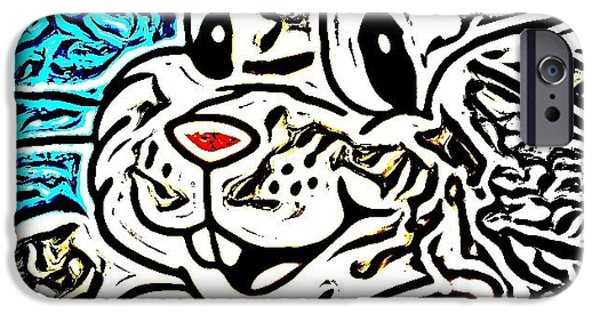 Abstract Digital Art iPhone Cases - Rabbit iPhone Case by HollyWood Creation By linda zanini
