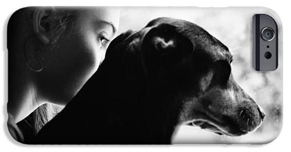 Black Dog iPhone Cases - Rabbit Season iPhone Case by Laura  Fasulo