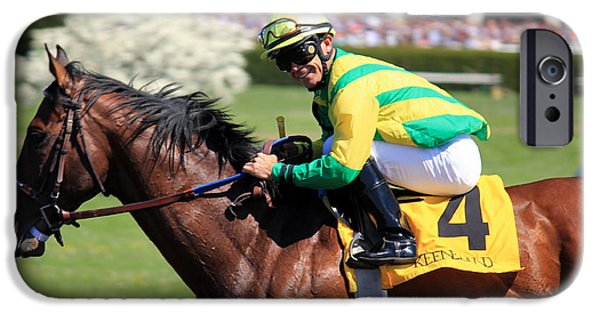 Keeneland iPhone Cases - Race Day Smile iPhone Case by Megan Genova