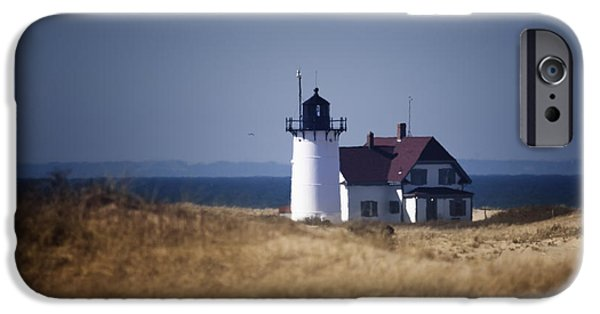 Cape Cod Lighthouses iPhone Cases - Race Point Light iPhone Case by Dapixara Art