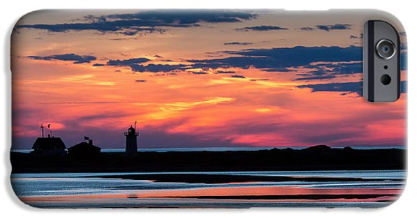 New England Lighthouse iPhone Cases - Race Point Light Sunset iPhone Case by Bill  Wakeley