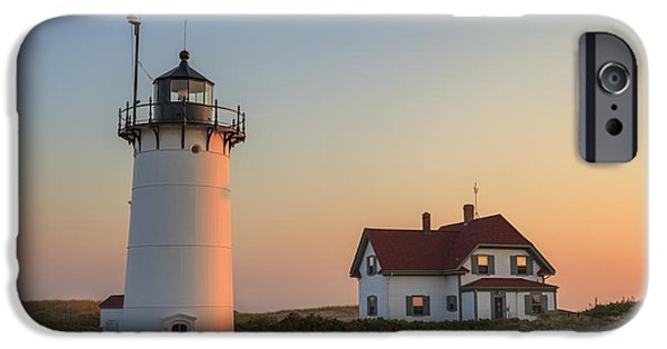 New England Lighthouse iPhone Cases - Race Point Lighthouse iPhone Case by Bill  Wakeley