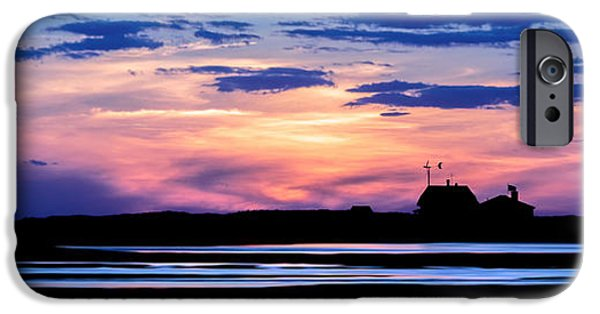 New England Lighthouse iPhone Cases - Race Point Lighthouse Silhouette  iPhone Case by Bill Wakeley