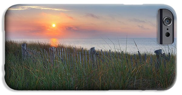 New England iPhone Cases - Race Point Sunset iPhone Case by Bill  Wakeley