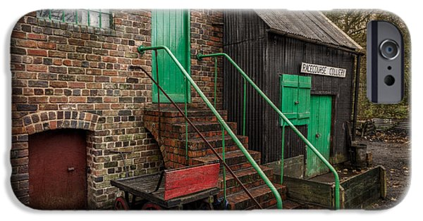 Architecture Digital iPhone Cases - Racecourse Colliery  iPhone Case by Adrian Evans