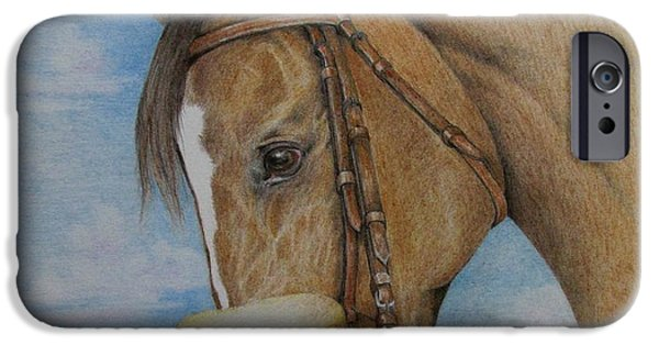 Kentucky Derby Drawings iPhone Cases - Zenyatta iPhone Case by Catherine Howley