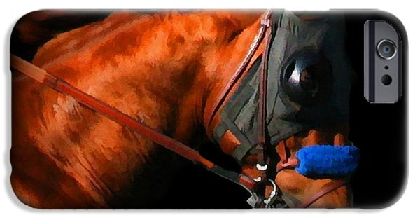 Horse Racing Photographs iPhone Cases - Racehorse iPhone Case by Stephanie Laird