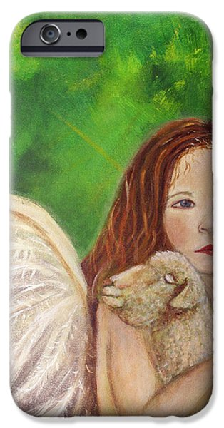 Rachelle Little Lamb The Return To Innocence iPhone Case by The Art With A Heart By Charlotte Phillips